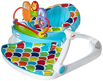 Amazoncom Fisher Price Deluxe Sit Me Up Floor Seat With Toy Tray