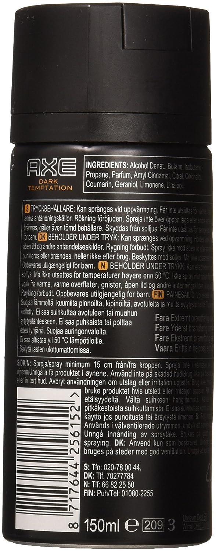 Axe Deodorant Body Spray 51 Ounce Pack Of 6 Dark Bodyspray Score 150 Ml Twin Temptation Beauty