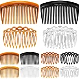 24 Pieces French Hair Side Combs Set Plastic Twist Comb Hair Clip Combs Accessories for Girls Women (11 Teeth Side, 23 Teeth