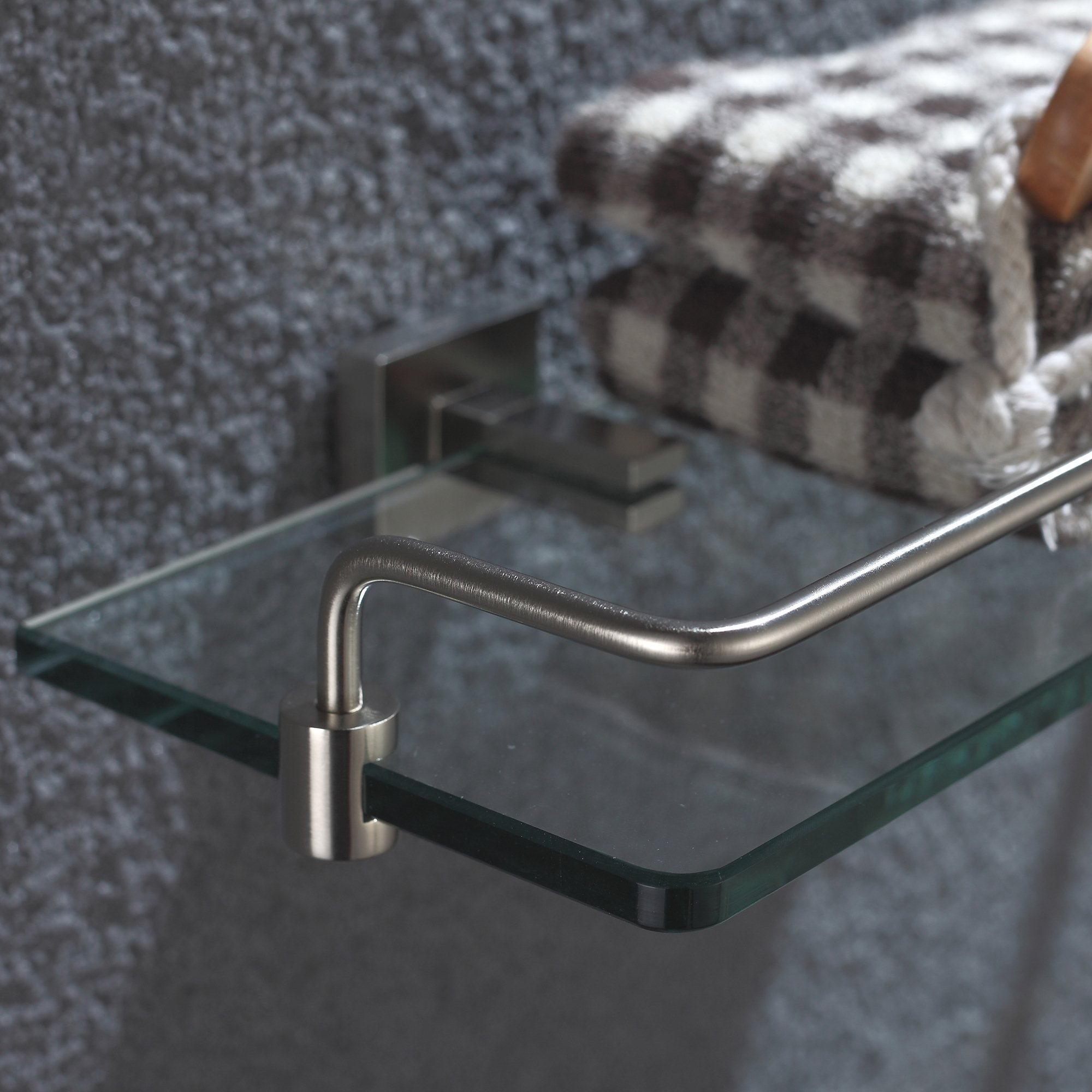 Kraus KEA-14445BN Aura Bathroom Accessories - Shelf with Railing Brushed Nickel by Kraus (Image #5)