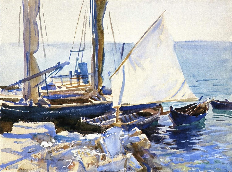 John Singer Sargent Boats on Lake Garda 1913 Hirshhorn Museum and Sculpture Garden Washington DC 24