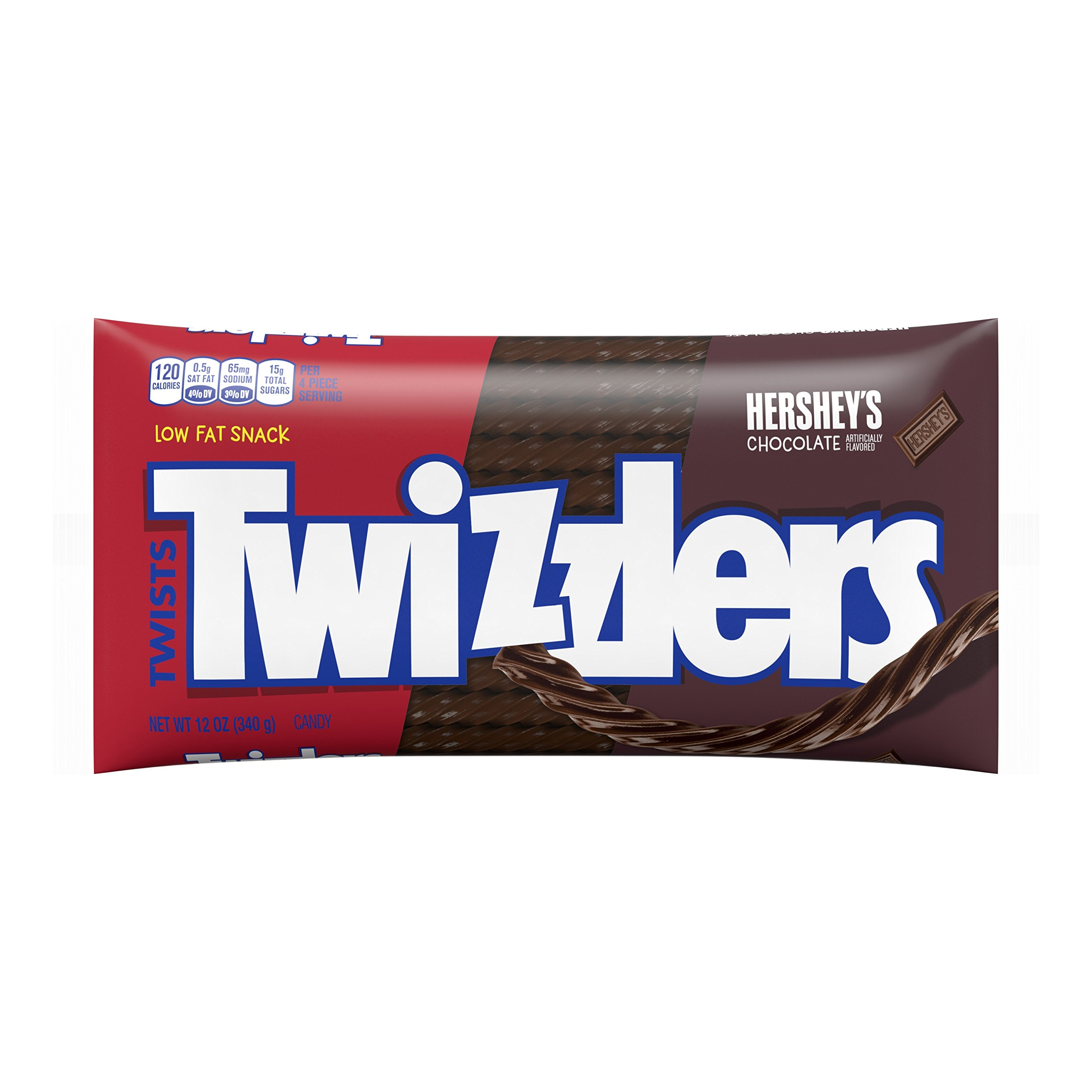 TWIZZLERS Chocolate Licorice Candy, 12 Ounce Bag (Pack of 6)