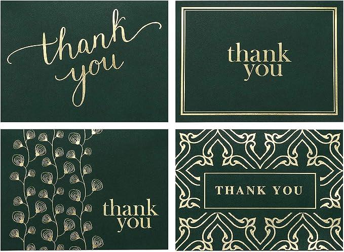 Thank You Sage Polka Dots Card