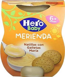 Hero Baby Merienda Natillas Galleta - Pack de 2 x 130 g - Total: 260