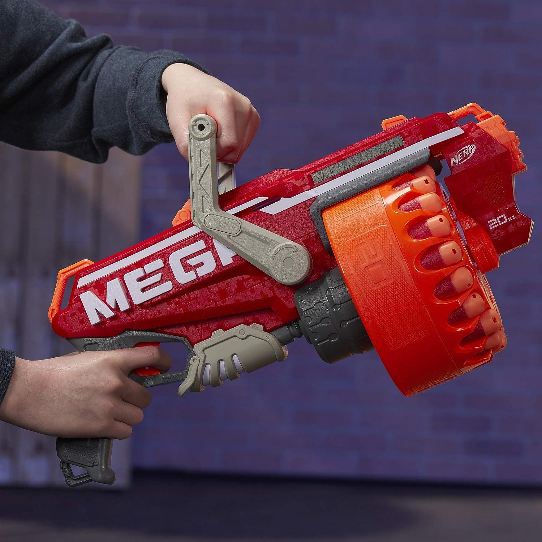 NERF Megalodon N-Strike Mega Toy Blaster with 20 Official Mega Whistler Darts