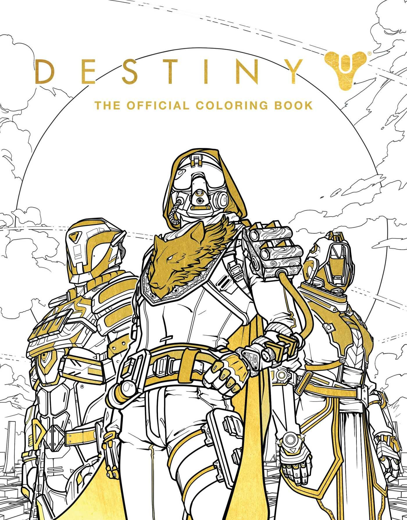 Amazon Destiny The Official Coloring Book 9781608879229 Bungie Ze Carlos Books