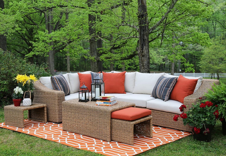 Amazon.com : AE Outdoor SEC200340 8 Piece Arizona Sectional With Cushions :  Garden U0026 Outdoor