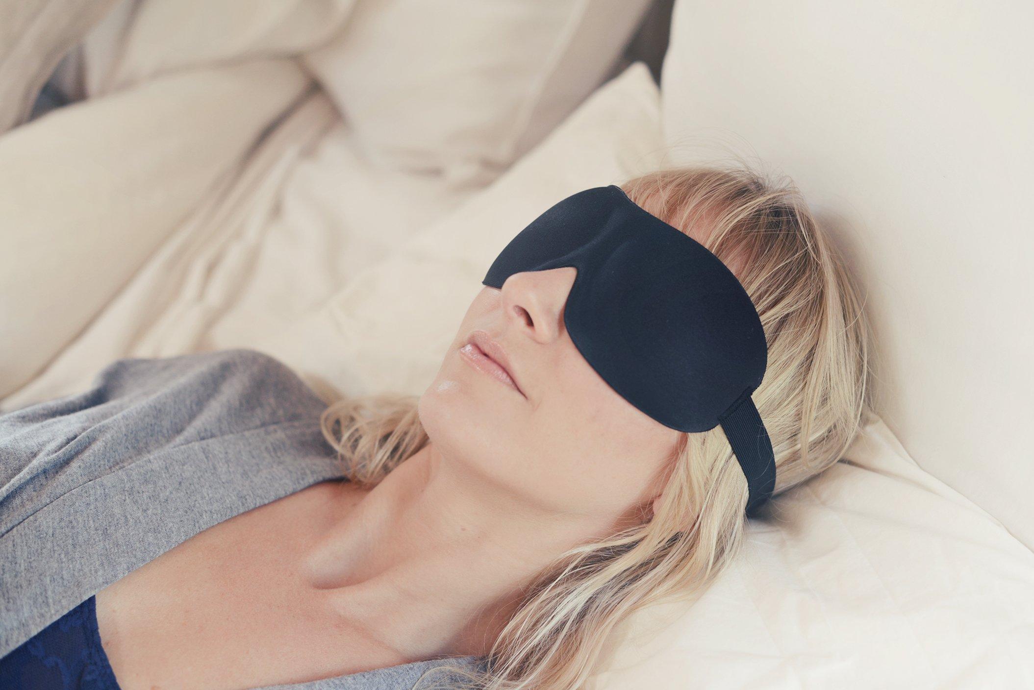 Luxury Patented Sleep Mask, Nidra Deep Rest Eye Mask with Contoured Shape and Adjustable Head Strap, Sleep Satisfaction Guaranteed, Sleep Anywhere, Anytime by Nidra (Image #2)
