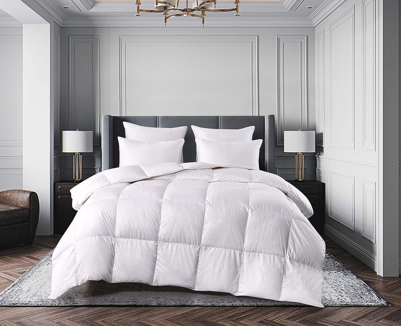 Elle Décor ELLE Ultra Soft Nano Touch All Season White Down Fiber Comforters, King