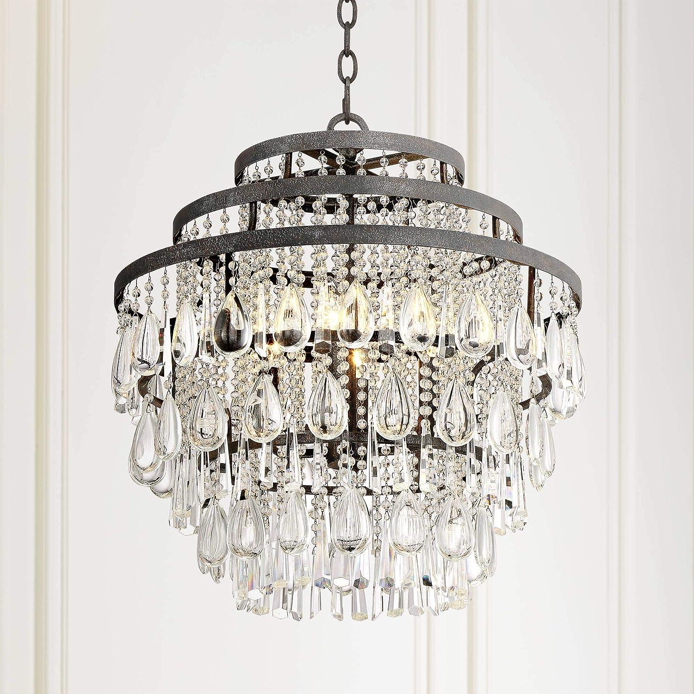 Beloit 20 Wide Clear Crystal 4-Light Chandelier – Vienna Full Spectrum