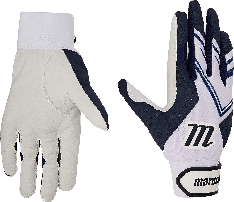 Marucci F5 Adult White//Navy Blue XX-Large Batting Gloves