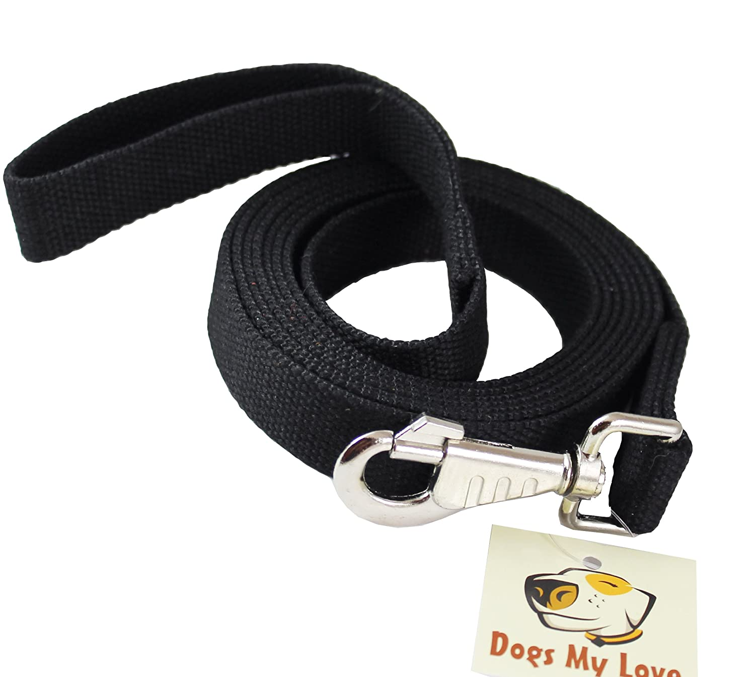 Dog Leash 1  Wide Cotton Web 10 Feet Long for Training Swivel Locking Snap, Pitt Bull, Cane Corso