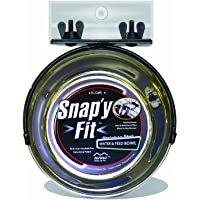 MidWest Homes for Pets Snap'y Fit Stainless Steel Food Bowl/Pet Bowl, 1 qt. for Dogs & Cats