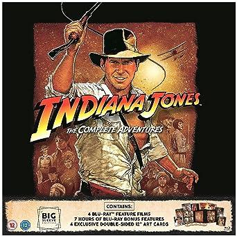 Indiana Jones The Complete Collection Big Sleeve Edition / Import / Region Free Blu Rays / All Four Films + Bonus Disc: Amazon.es: Cine y Series TV