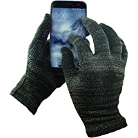 GLIDER GLOVES GliderGloves W15-9540M-BLCK-L Mens Texting Gloves. Warm Smartphone Gloves with Anti-Slip Grip, Insulated Layers & Full Hand Conductivity. Winter Style Black Touch Screen Gloves Women, Touchscreen Gloves Men