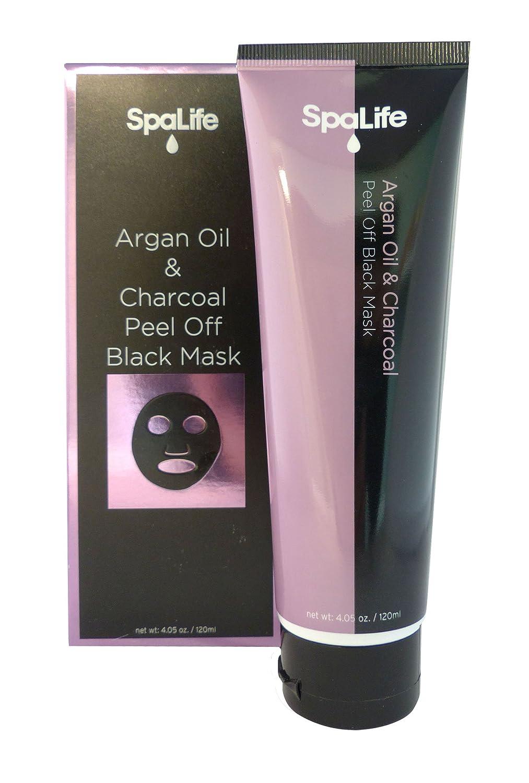 Spa Life Argan Black Mask - Blackhead Remover - Activated Charcoal Face Mask - Peel Off Mask - 4.05oz (Argan oil & Charcoal)