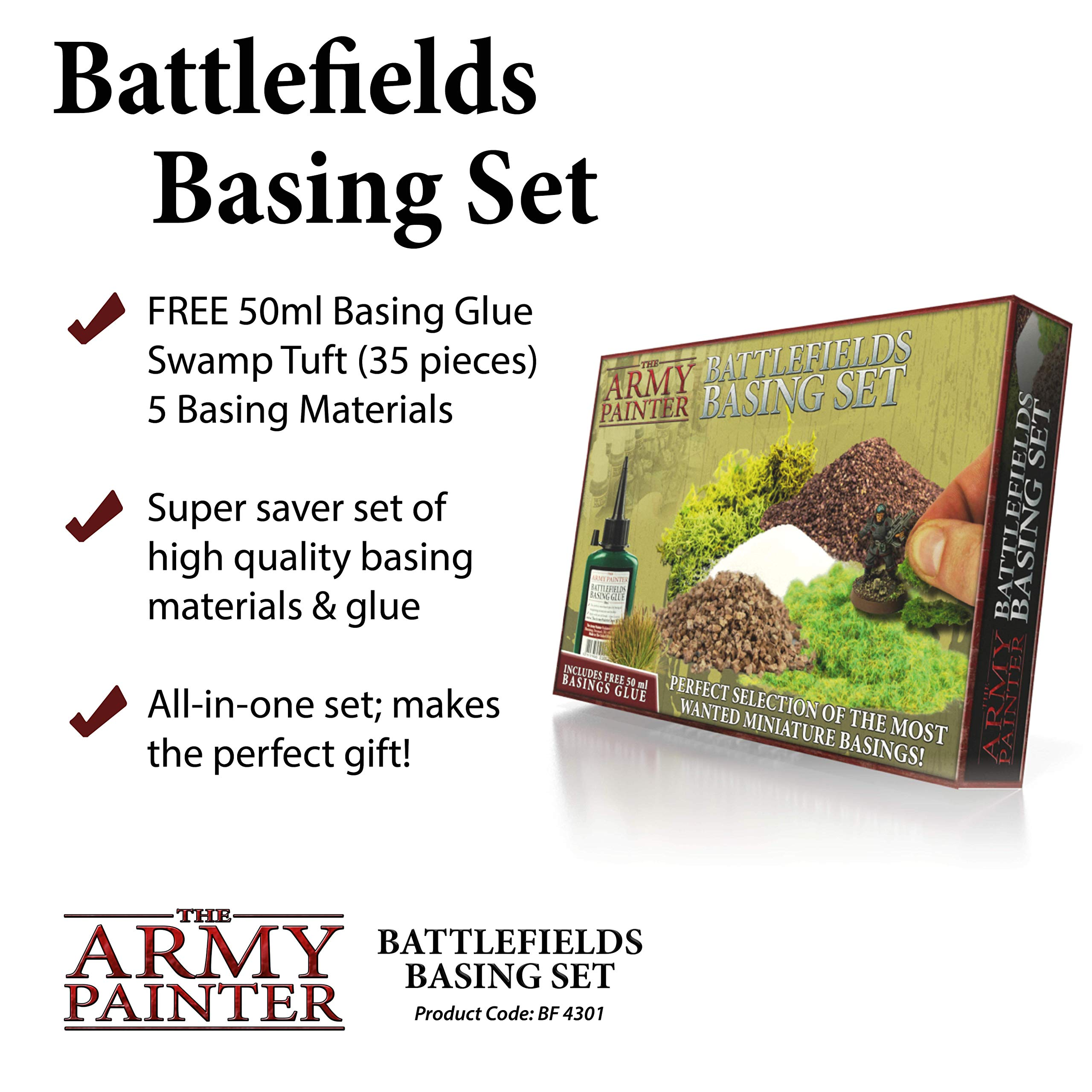 The Army Painter Battlefields Basing Set - Wargamers Terrain Model Kit for Miniature Bases and Dioramas with Landscape Rocks, Scenic Sand, Static Grass, Grass Tufts and Free Basing Glue by The Army Painter (Image #2)
