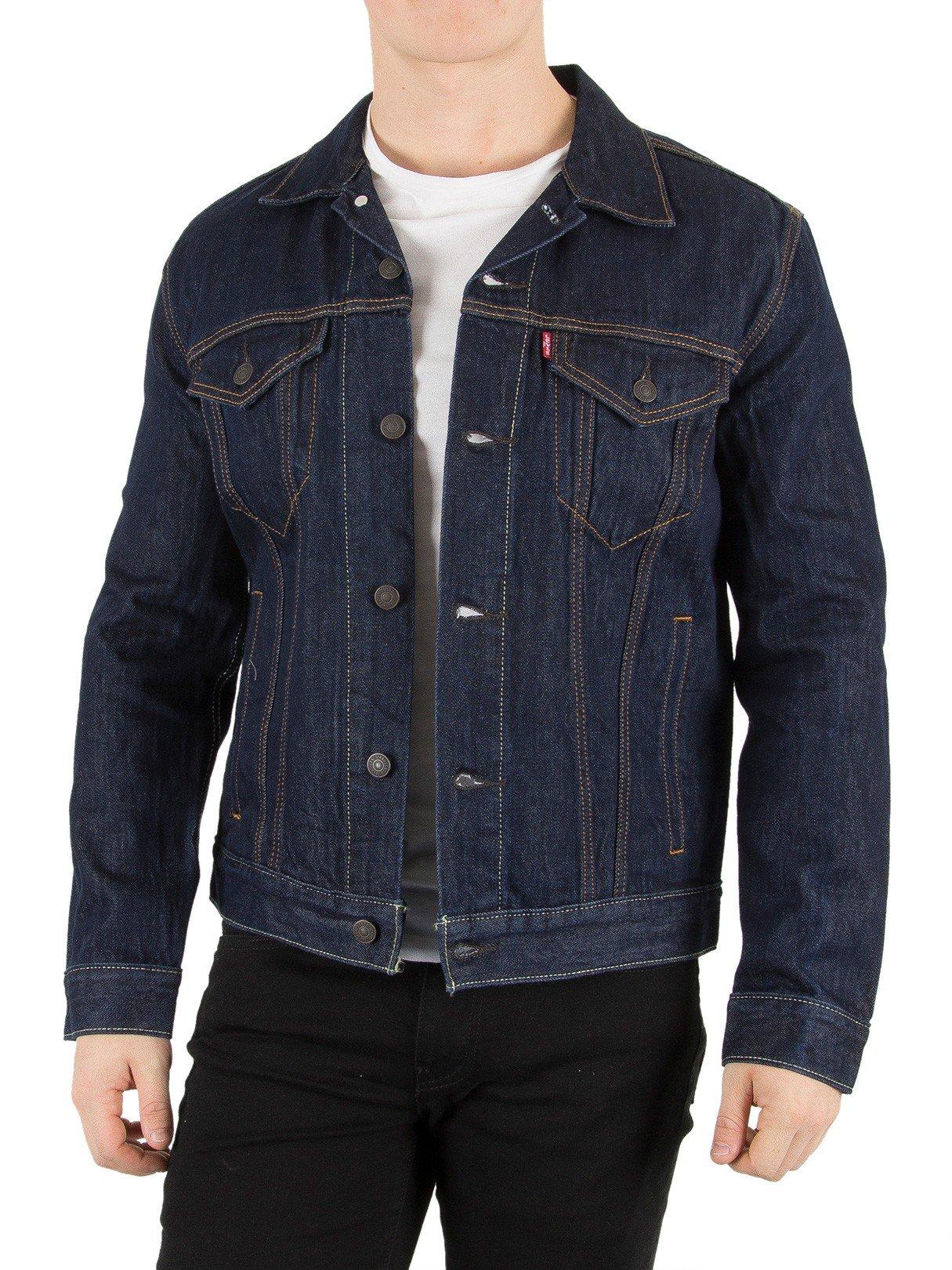 Levi's Men's Trucker Rinse Jacket, Blue, Large