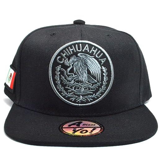 99beb64291f AblessYo Mexican Hat Mexico Federal Embroidered Snapback Baseball Cap Flat  Bill AYO6028 (Chihuahua)
