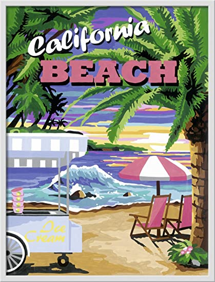 Ravensburger 28887 California Beach Malen Nach Zahlen 30 X 40 Cm