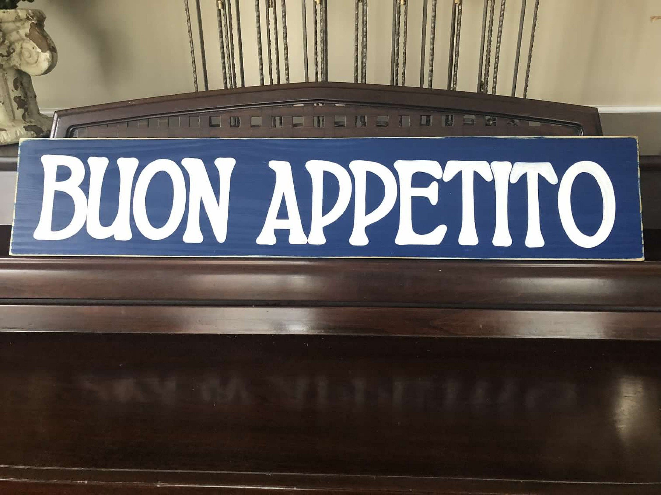 Buon Appetito Italian Kitchen Food Italy Sign Plaque Country Chic Rustic Farmhouse Wooden Hand Painted You Pick Color Gallery Wall Art FREE SHIPPING
