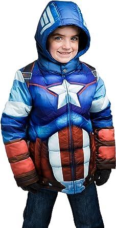 Kids Captain America Puffer Jacket