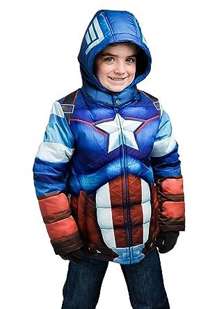 e7d0b6477 Amazon.com  FUNWEAR Kids Captain America Puffer Jacket  Clothing