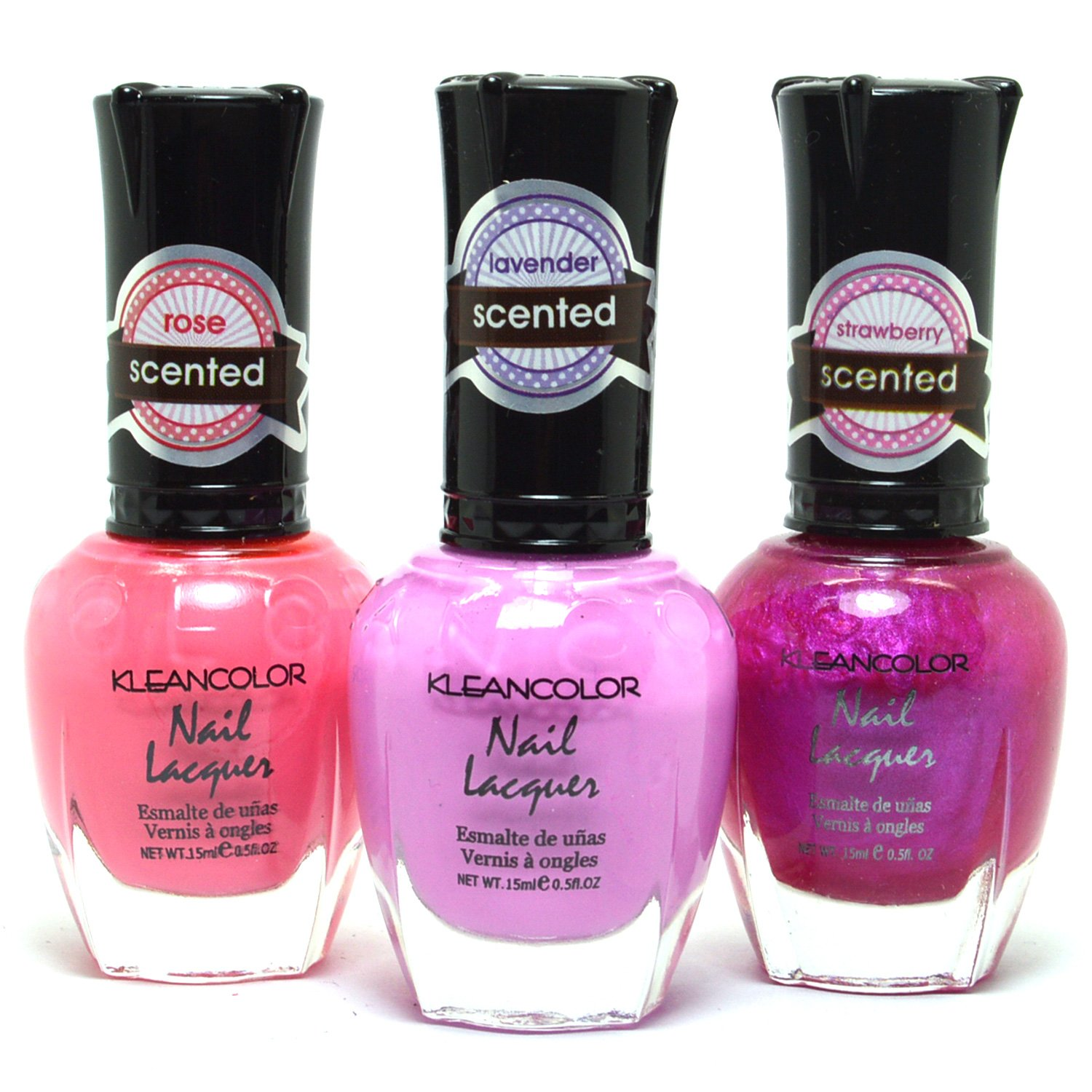 Amazon.com : 3 KLEANCOLOR NAIL POLISH PASTEL PINK, PURPLE