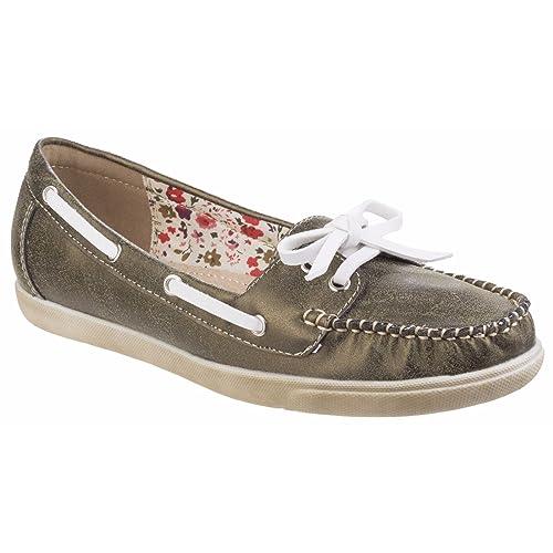 Fleet & Foster - Zapatos Náuticos Ligeros Modelo Melbeck para Mujer (38 EU/Verde
