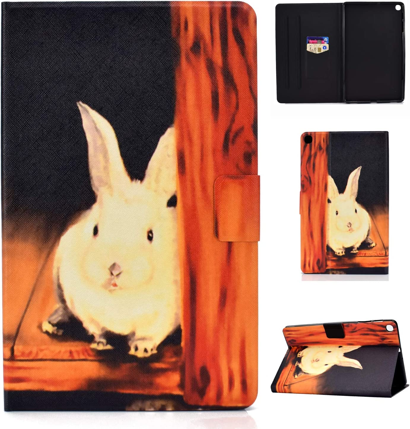 2019 Lspcase Coque Galaxy Tab A 2019 PU Cuir Flip Housse /Étui Cover Case Support Coque de Tablet avec Porte-Cartes pour Samsung Galaxy Tab A 10.1 Pouces SM-T510 Arbre de Vie SM-T515