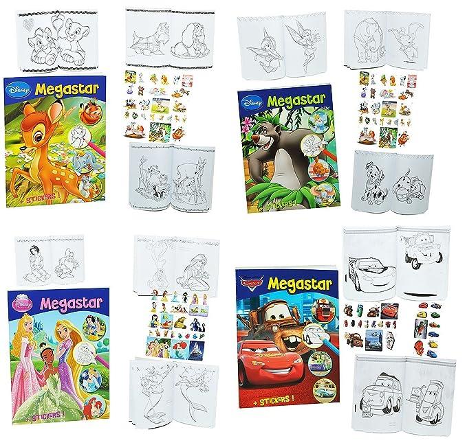 1 Stück: dickes Malbuch A4 mit 25 Sticker - 128 Seiten - für Mädchen ...
