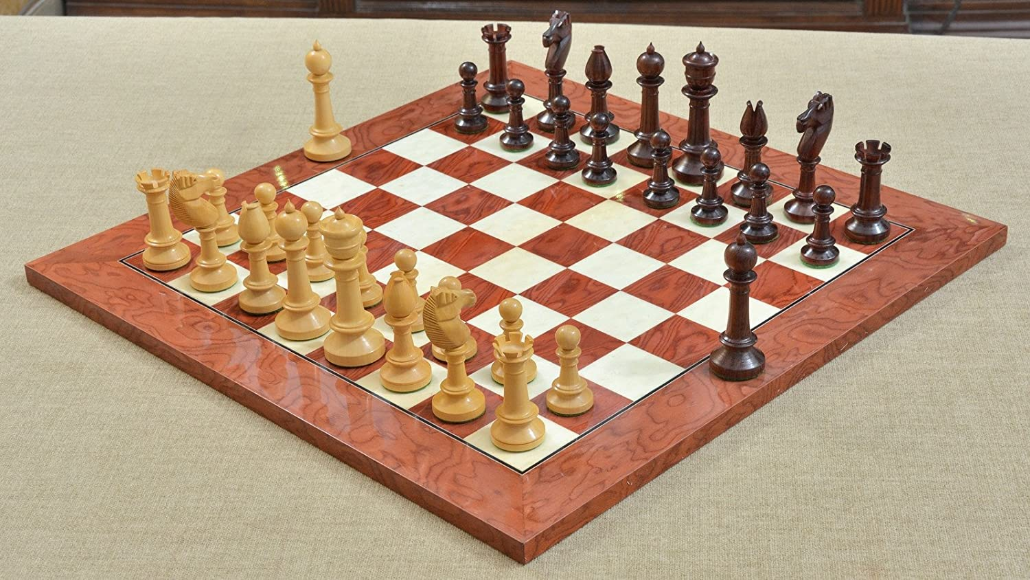 【スーパーセール】 Combo Upright of B01MDPM3CH Repro Old Antique Edinburgh Rose Upright Chess Pieces in Bud Rose/ Box Wood & Red Ash Burl Maple Wooden Chess Board B01MDPM3CH, 亀や和草:4096ee27 --- cygne.mdxdemo.com
