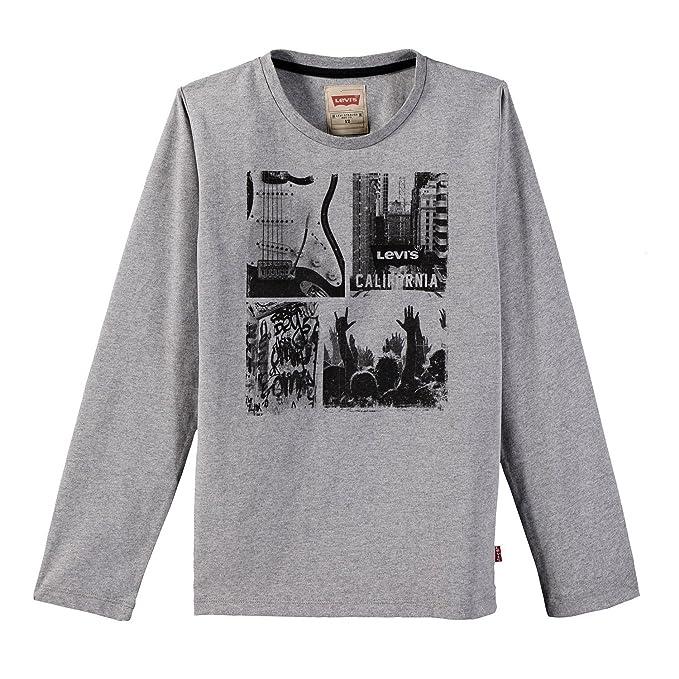 Levis LS tee City, Camiseta para Niños, Gris (Marled Grey 24),
