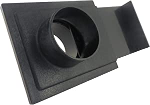 2-1/2 Inch ABS Plastic Blast Gate 2-1/2 Inch OD Openings on Both Sides for Dust Collection Systems 73449