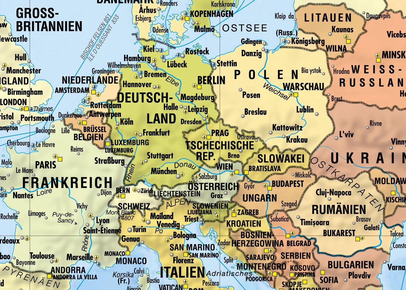 Weltkarte Reiseweltkarte Deutschsprachig 1 31 Mio