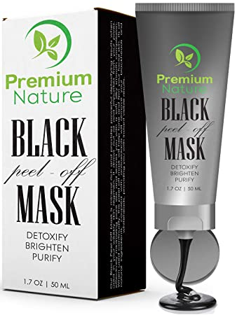 Amazon.com : Black Charcoal Peel Off Mask - Natural Blackhead Remover Mask Activated Charcoal Black Face Mask Peel Off for Blackheads Facial Blackhead ...