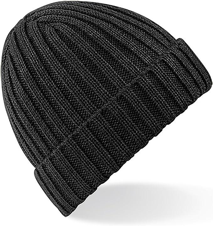 junkbox hat cuffed hat headwear snug hat Grey Flecked Ribbed Beanie Hat ~ knitted hat beanie hat woolly hat ladies hat mens hat