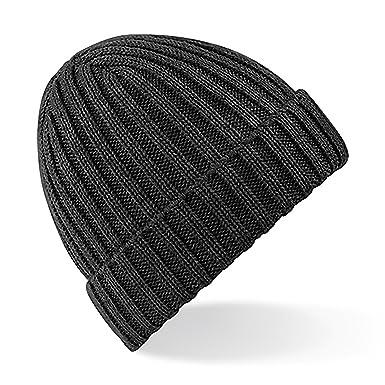 Beechfield Unisex Winter Chunky Ribbed Beanie Hat (One Size) (Black ... e7a8c316e00