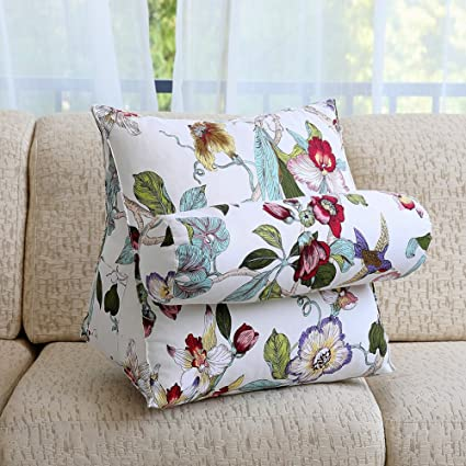 Pillow Cushion Sofa Nordic Simple Blend Bed Headrest Lumbar Pillow Office Living Room Chair Backrest Cushion Waist Table & Sofa Linens