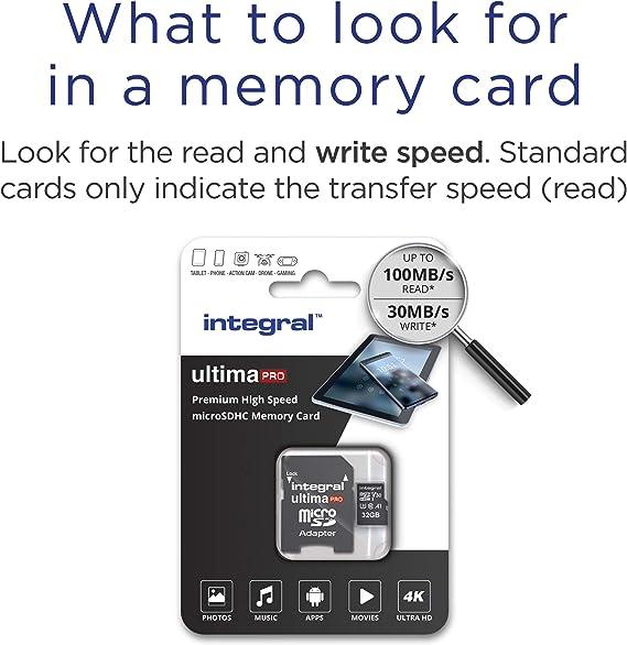 Integral Ultimapro Memory Card 32 Gb Microsdhc 100 Mb Computer Zubehör