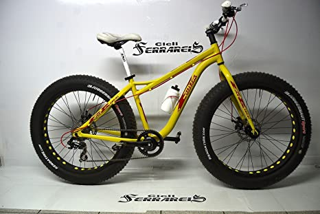 Bicicleta FAT BIKE MTB Cross de aluminio 16,7 kg amarilla Negro ...