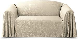 Stylemaster Brianna Jacquard Furniture Throw, Love Seat, Ivory