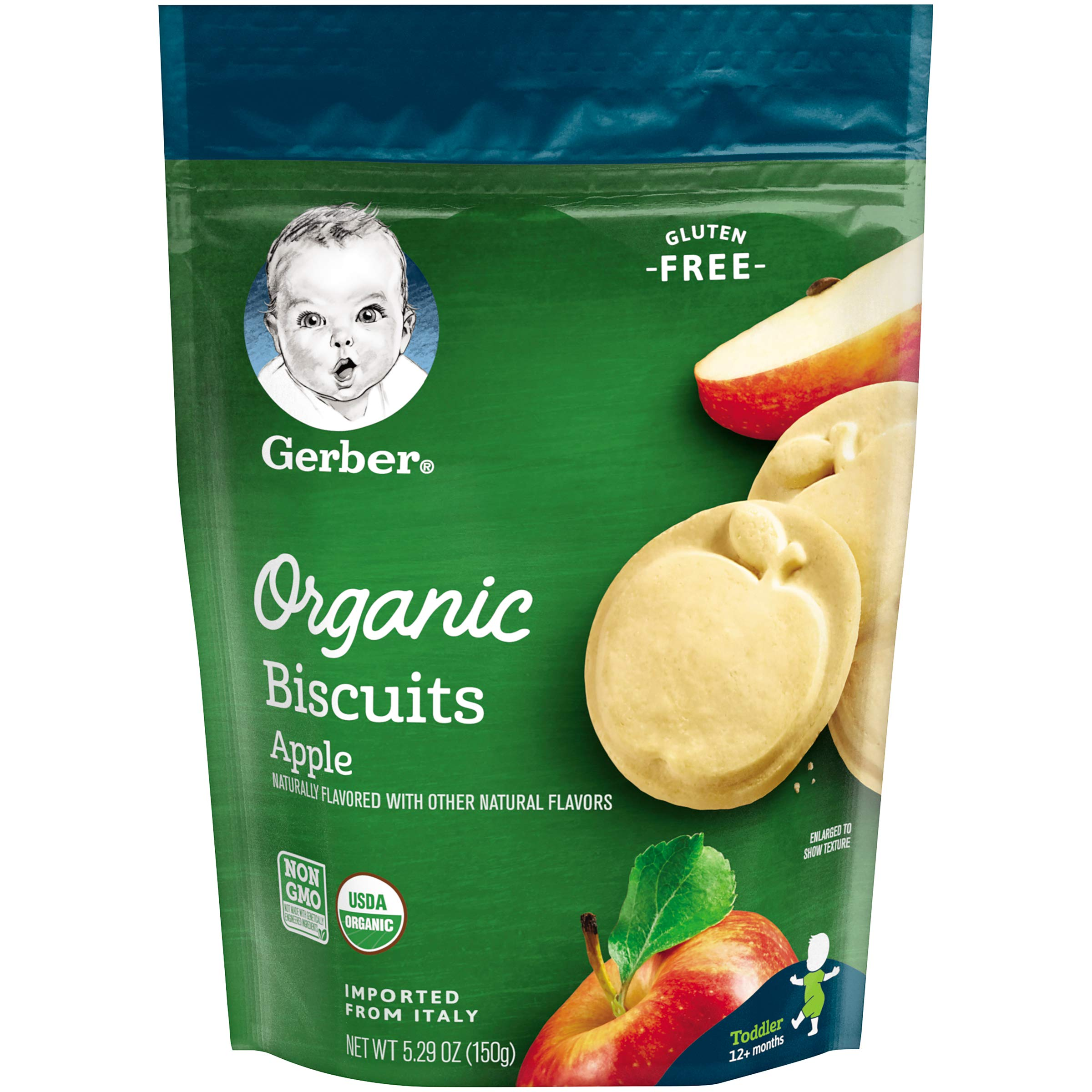 Gerber Graduates Organic Gluten Free Biscuits, Apple, 5.29 oz by Gerber