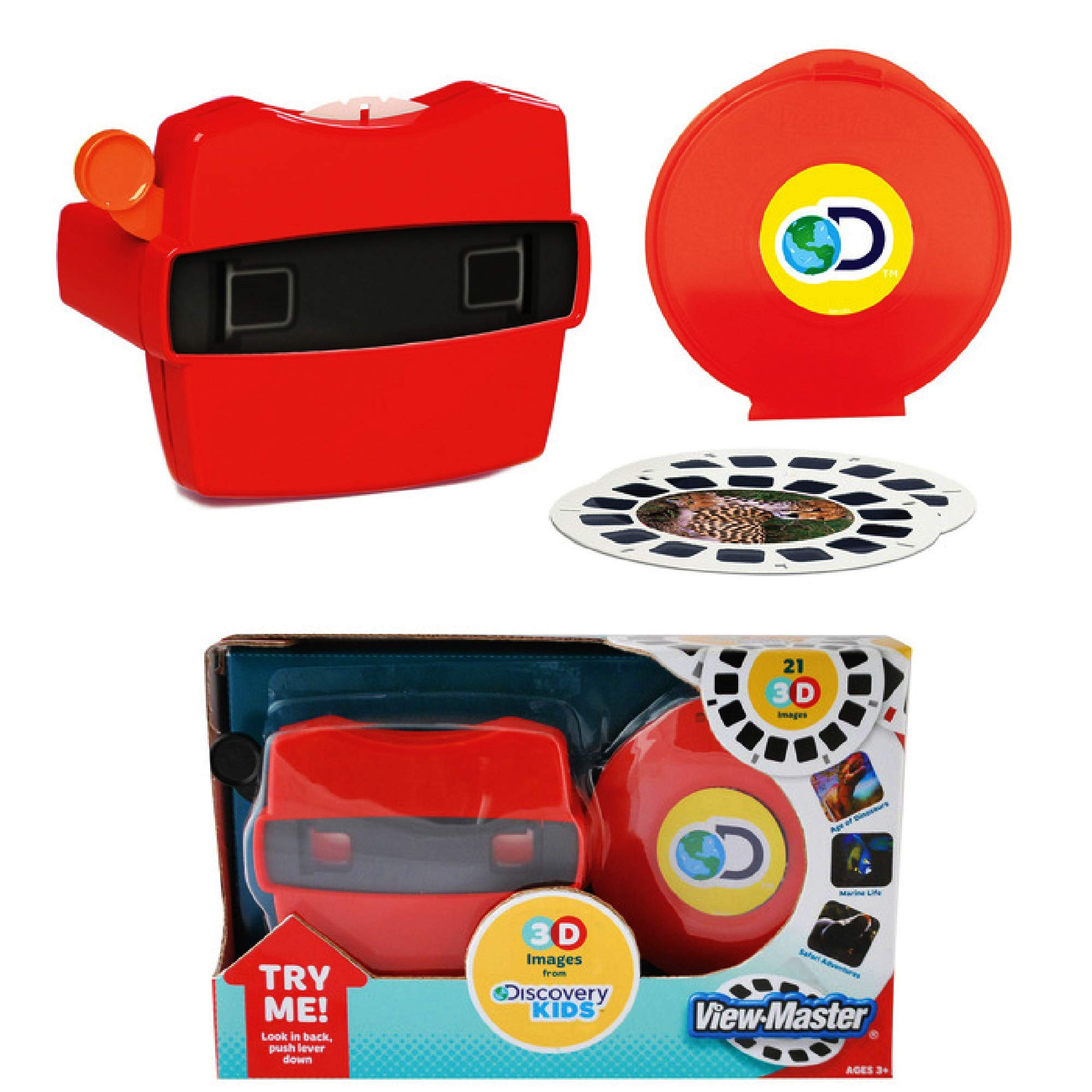 View Master Classic 3D Adventures Discovery Boxed Set & Marine Life Refill Gift Set Bundle with Bonus Matty's Toy Stop Storage Bag - 2 Pack by View Master (Image #2)