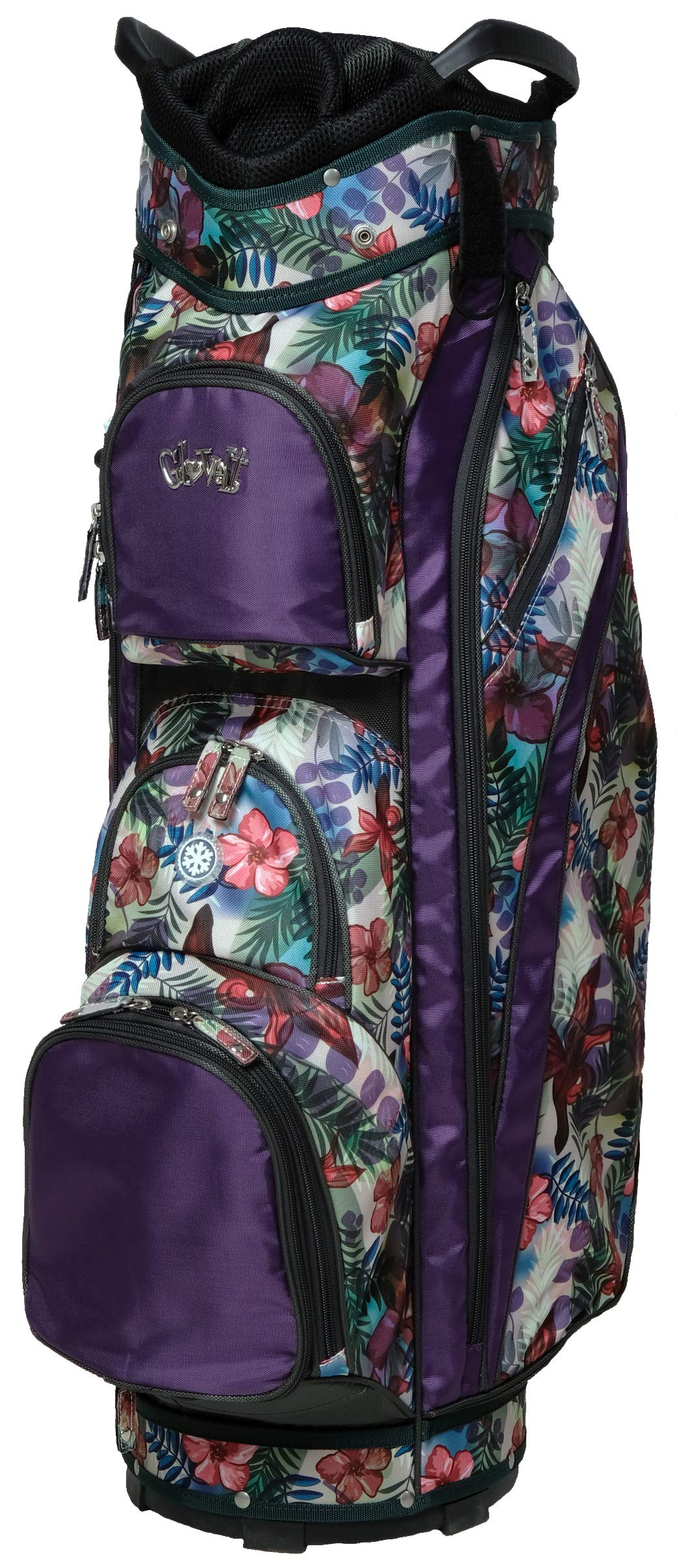 Glove It Women's Golf Bag Ladies 14 Way Golf Carry Bag - Golf Cart Bags for Women - Womens Lightweight Golf Travel Case - Easy Lift Handle - 2019 Tropical by Glove It