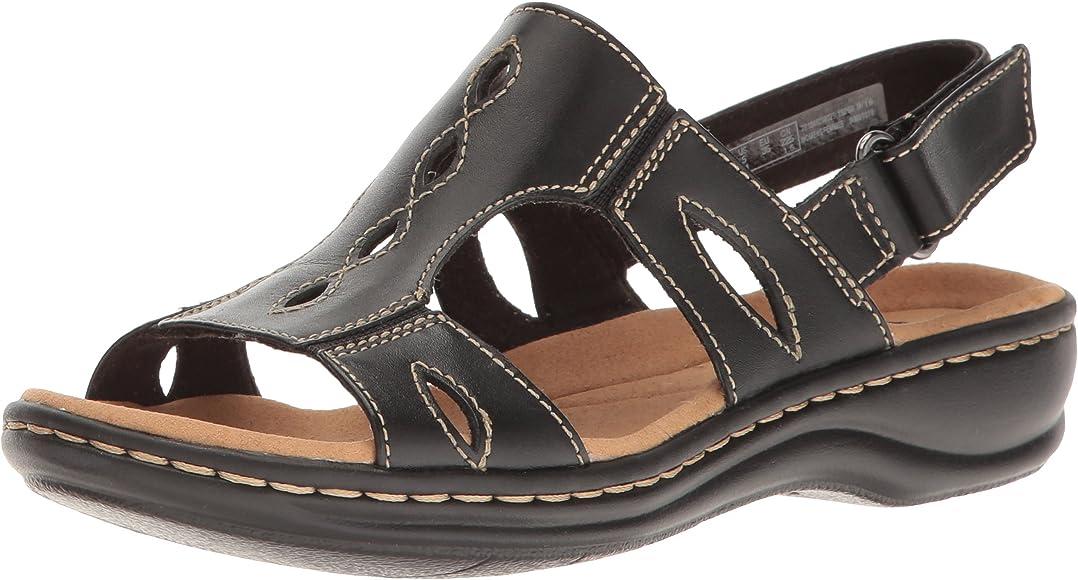 Details about Women's Clarks Collection Soft Cushion sandals Size 9 Adjustable strap Black
