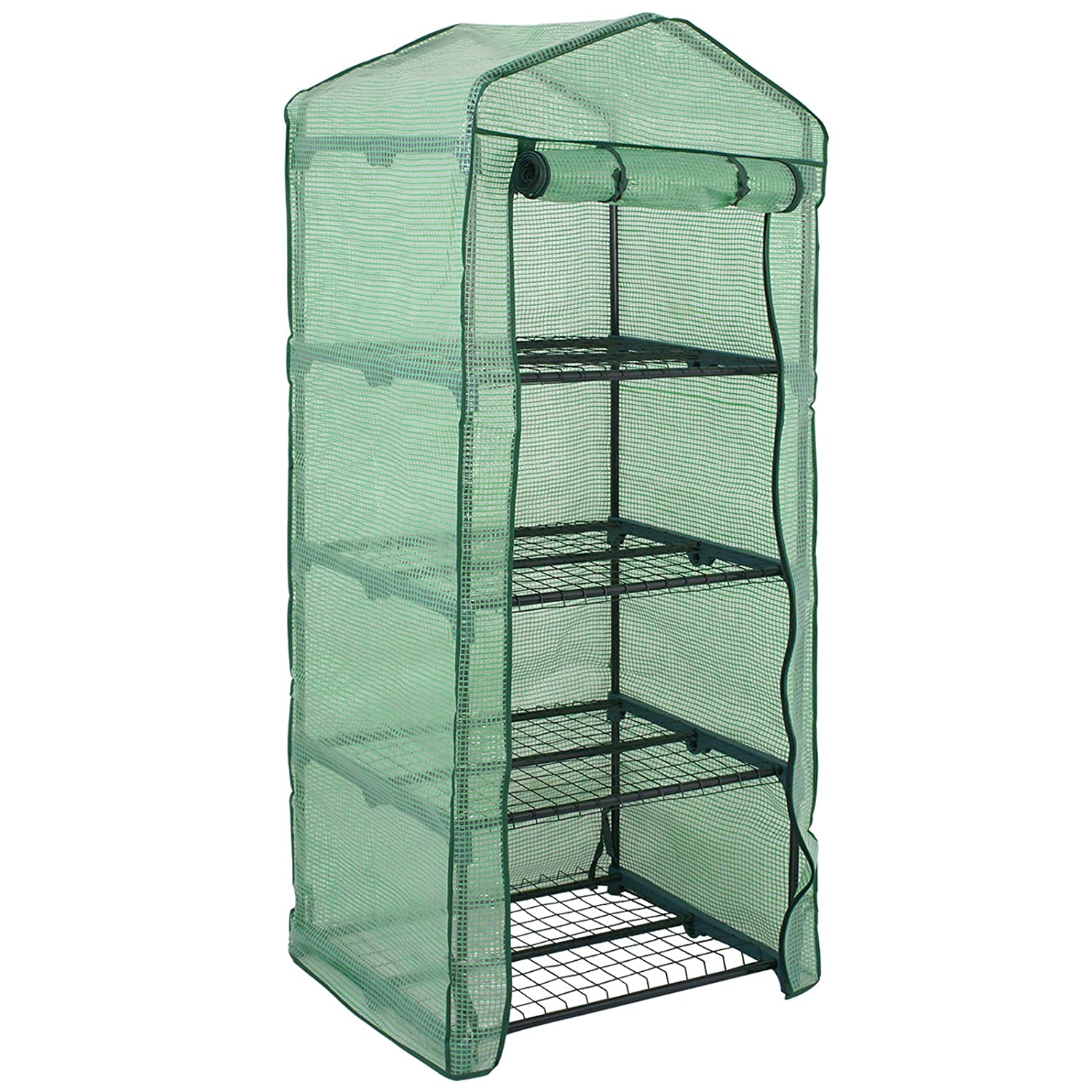 US-PopTrading Plant Greenhouse Cover,Tier Mini Portable Walk-In Garden Home for Outdoor Indoor Herb Flower Plants Garden Balcony A