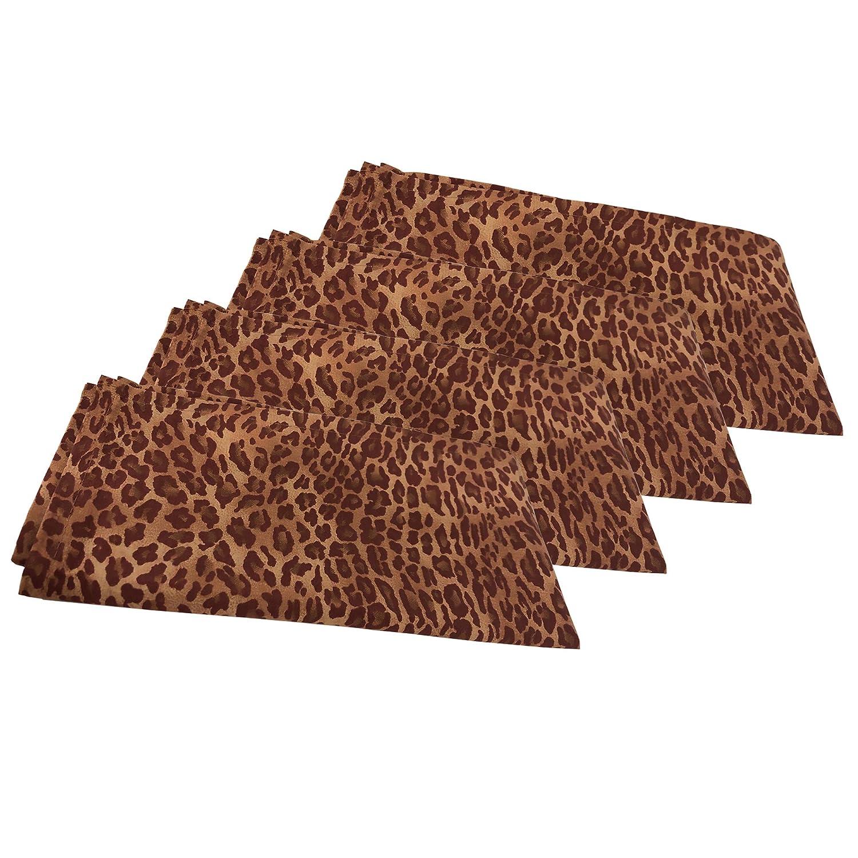 Chelsea Home Set of 4 Animal Print Cloth Napkins   B01G7O5PKW