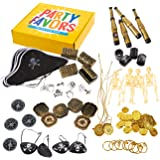 100-Pack Pirate Party Favors - Pirate Theme Birthday Party Supplies, Favor Bag Pirate Decorations, Plastic Fake Coins, Pirate Stuff