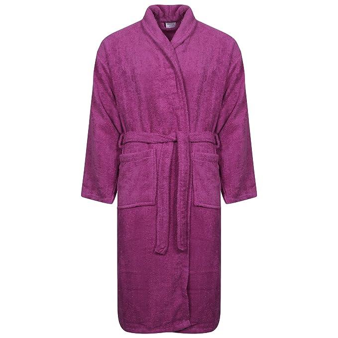 Jasmin Elinor Mens Ladies Kids Unisex Egyptian Cotton 500 GSM Terry Towelling Shawl Collar Hooded Bathrobe Dressing Gown